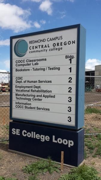 COCC sign