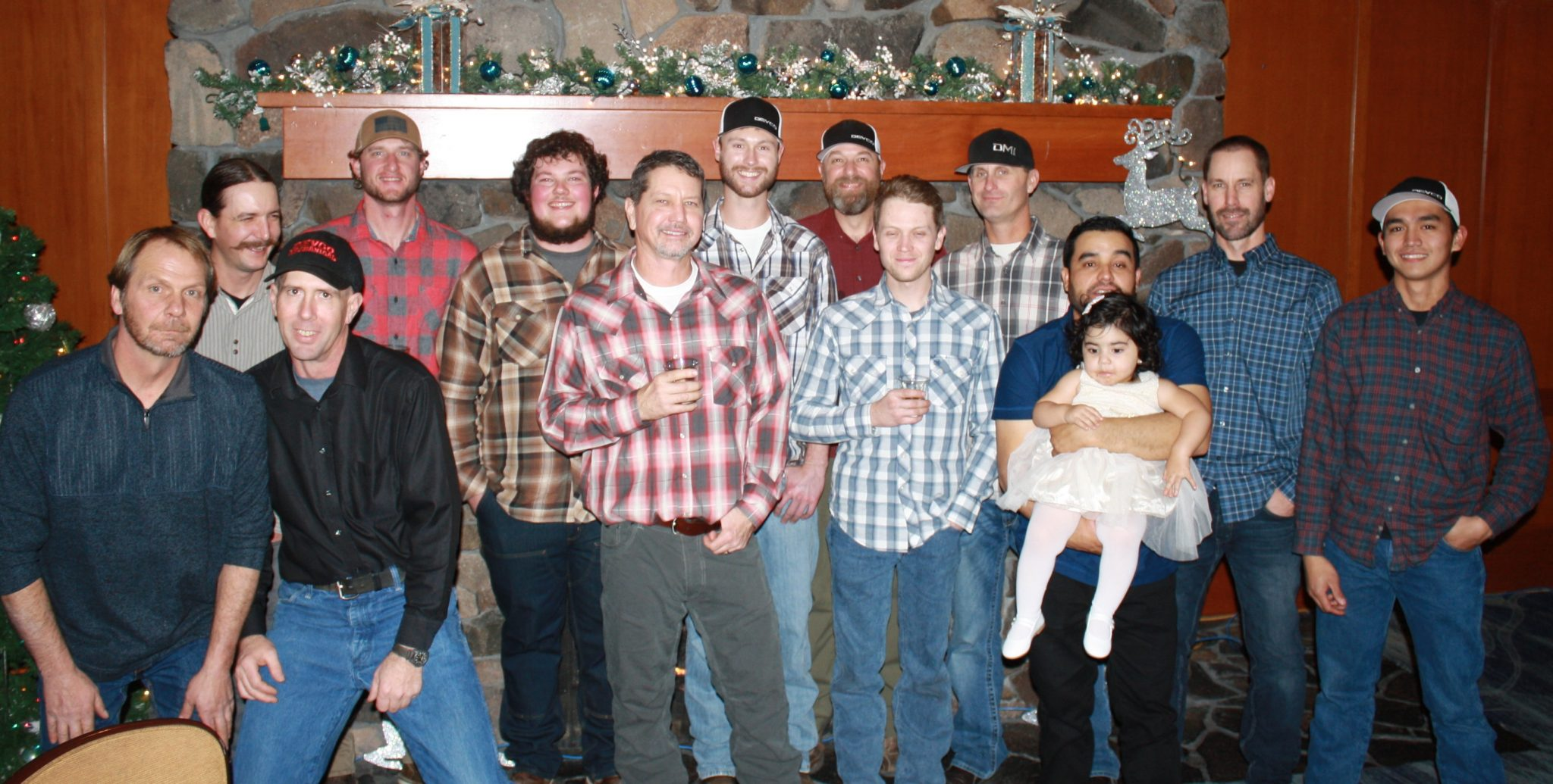 Crew at Christmas Party - 2018